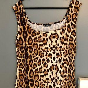 Leopard Animal Print tank top (sz 2X)